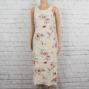 Casual Corner linen floral print midi dress